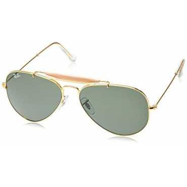 Aviator Unisex Sunglasses (RB3129 W0226 58 14|58 millimeters|Green)