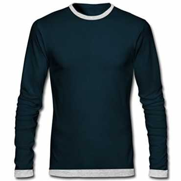 Men's Cotton Full Sleeve Round Neck Slim Fit T-Shirt (TS900403S)