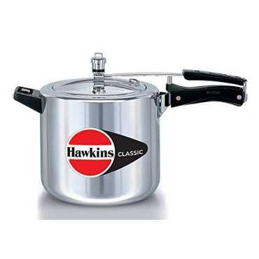 Hawkins Classic CL65 Aluminium 6.5 L Pressure Cooker (Inner Lid) - Silver