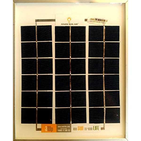 Andslite 3W 6V Solar Panel - Silver