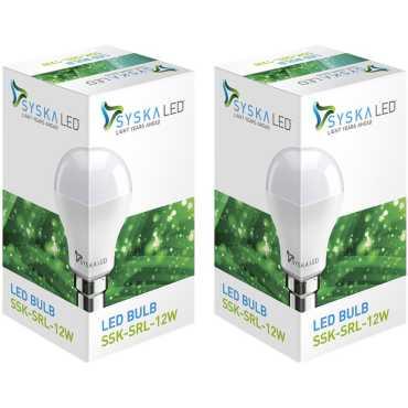 Syska SSK-SRL-12W 6500K Cool Day Light Combo LED Bulb White Pack of 2