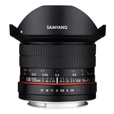 Samyang 12mm F2.8 ED AS NCS Fish-eye Lens - Black