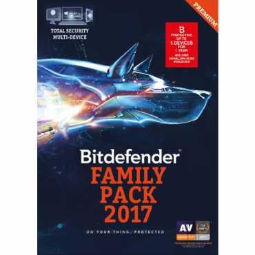 Bitdefender Family Pack 2017 5 PC 1 Year Antivirus