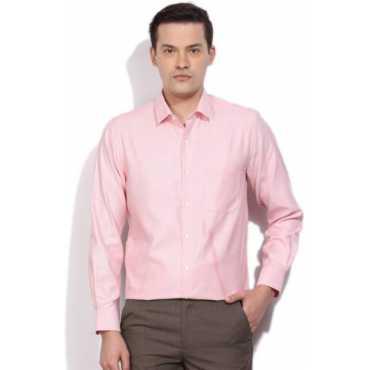 Men s Self Design Formal Orange Shirt