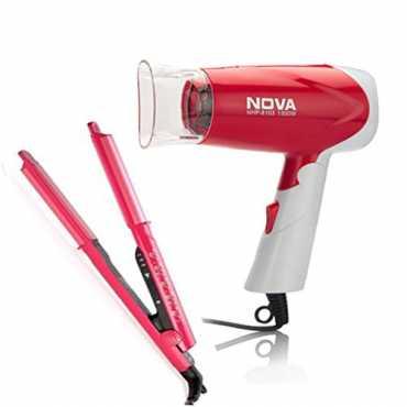 Nova NHS-981 Straightener and NHP-8103 Hair Dryer - Pink
