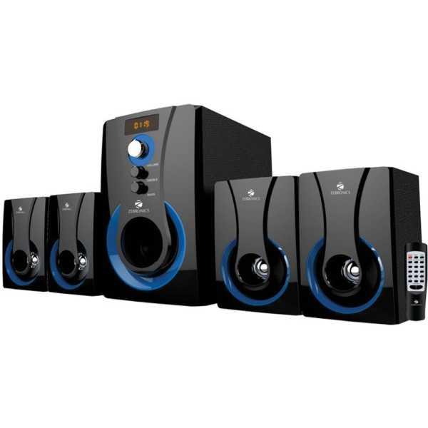 Zebronics SW3490RUCF 4.1 Multimedia Speaker - Black