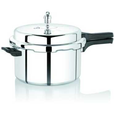 Premier Netraa Aluminium 3 L Pressure Cooker (Outer Lid) - Silver