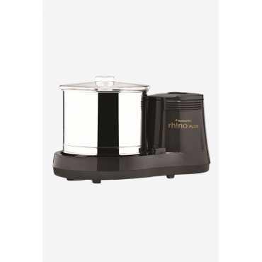 Butterfly Rhino Plus 150W Table Top Wet Grinder - Grey | Black