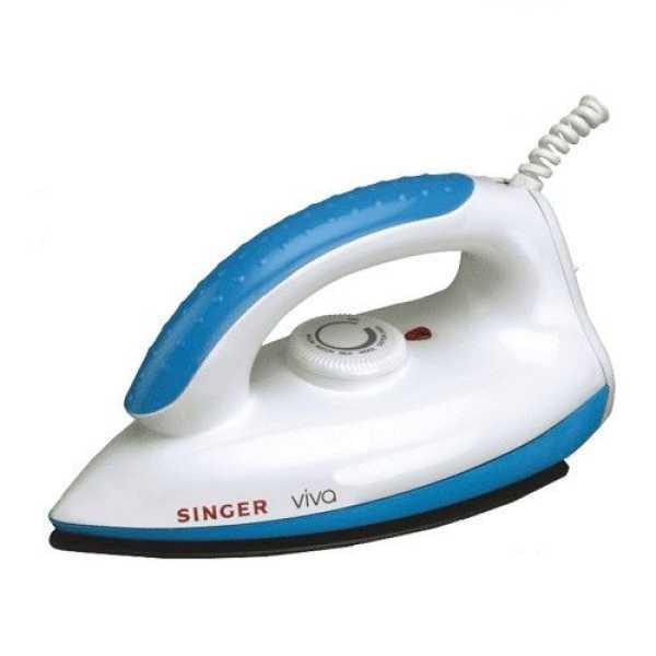 Singer Viva 1000W Dry Iron - Blue | White | Red