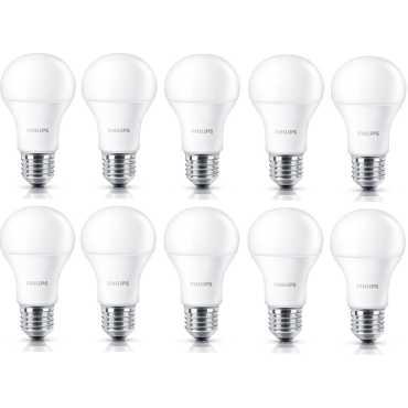 Philips Stellar Bright 14W E27 LED Bulb (Warm White, Pack of 10) - Yellow