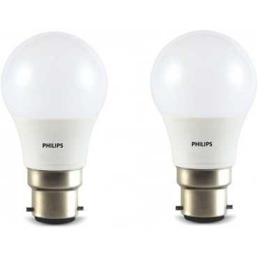 Philips 4W Round B22 350L LED Bulb (White,Pack of 2) - White
