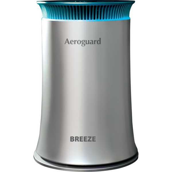 Eureka Forbes Aeroguard Breeze Compact Air Purifier - Silver | Black