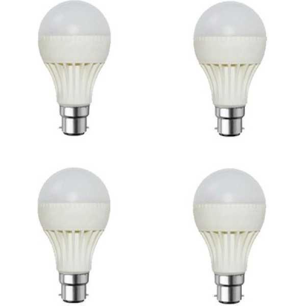 Digilight 12W Plastic Body White LED Bulb (Pack Of 4) - White