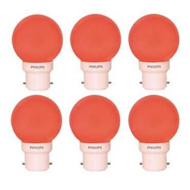 Philips 0 5W Decomini B22 LED Bulb Red Pack Of 6