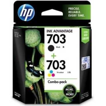 HP 703 Combo Ink Cartridges - Black