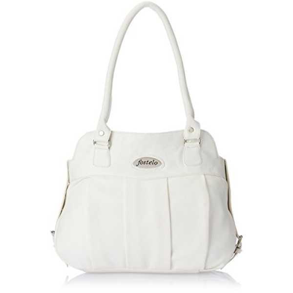 Fostelo Women s White Handbag White Fsb-178