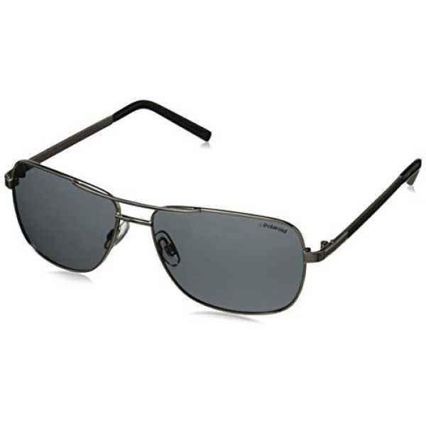 Polaroid Polarized Rectangular Men's Sunglasses - (PLD 2029/S 010 58Y2|58|Grey Color)