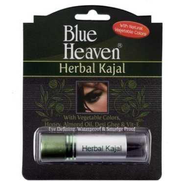 Blue Heaven Herbal Kajal Stick (Black) Combo (Set of 2) - Blue