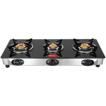 Pigeon Ultra Stainless Steel Manual Gas Cooktop (3 Burners) - Steel