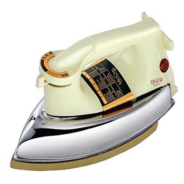 McCoy Neptune 1000W Dry Iron - White