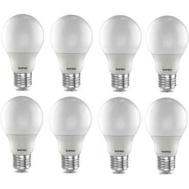 Wipro Garnet 9W Standard E27 LED Bulb (White, Pack of 08) - White