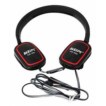KDM KM-990 On Ear Headset - White | Black