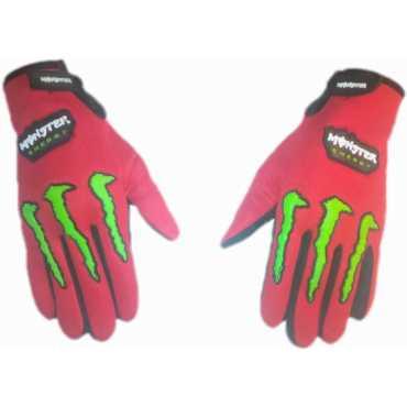 Monster Biker Riding Gloves Large