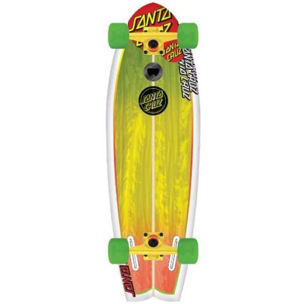 Santa Cruz Land Shark Rasta Sk8 Complete Skate Board