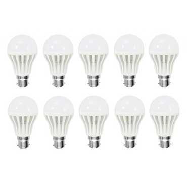 AFS 7W Bright White B22 LED Bulb (Set of 10)