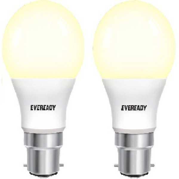 Eveready 5W B22D 450L LED Bulb (Warm White, Pack Of 2)