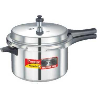Prestige Popular Plus Aluminium 5.5 L Pressure Cooker (Induction Bottom,Outer Lid)
