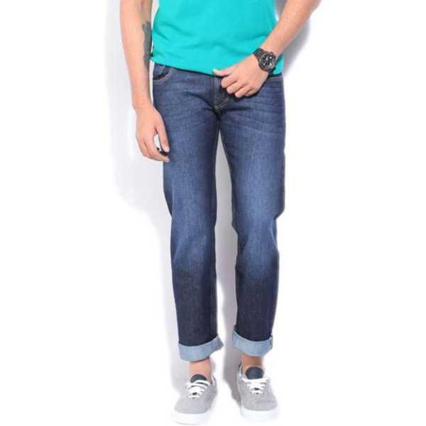 Slim Men's Dark Blue Jeans