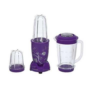 Wonderchef Nutriblend 400W Juicer Mixer Grinder (3 Jars) - Red | White | Beige | Black | Purple
