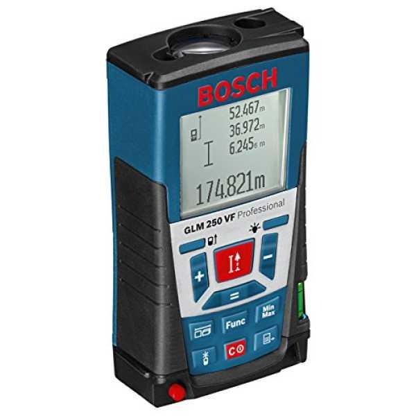Bosch GLM 250 VF Laser Rangefinder - Blue