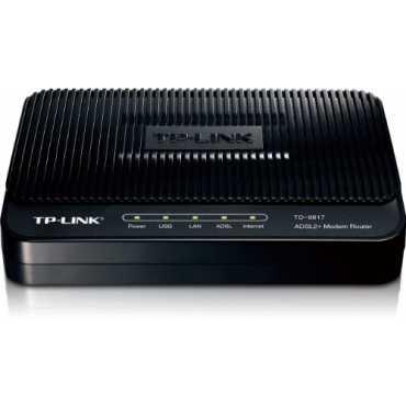 TP-LINK TD-8817 ADSL2 Ethernet/USB Wired with Modem Router - Black