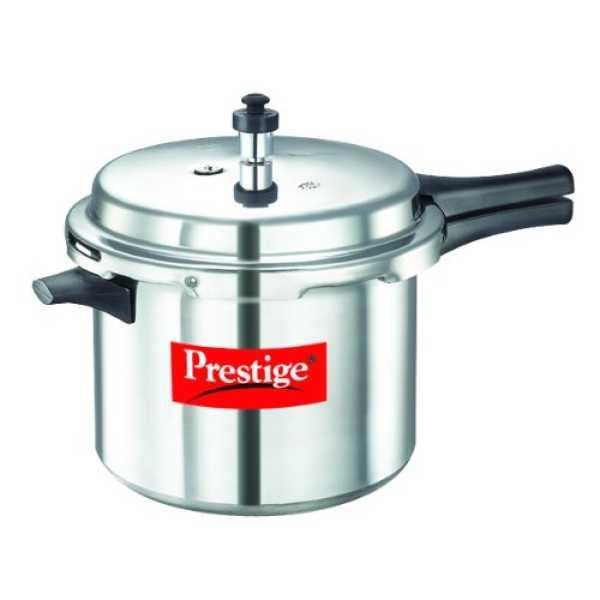 Prestige 10024 Aluminium 6.5 L Pressure Cooker (Outer Lid) - Silver