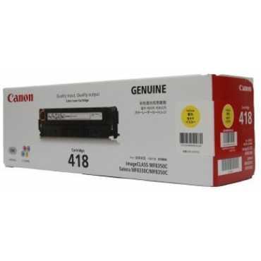 Canon 418 Yellow Toner Cartridge - Yellow | Black