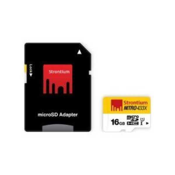 Strontium SRN16GTFU1 16GB Class 10 MicroSDHC Memory Card