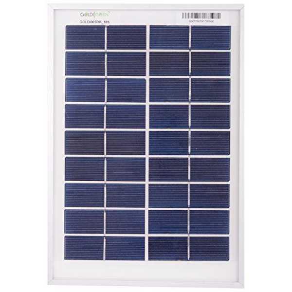 Goldi Green 5W Silicon Solar Panel