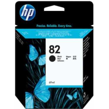 HP 82 69-ml Black Ink Cartridge - Black