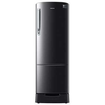 Samsung RR26N373ZBS/HL 255 L 3 Star Inverter Direct Cool Single Door Refrigerator - Black Inox