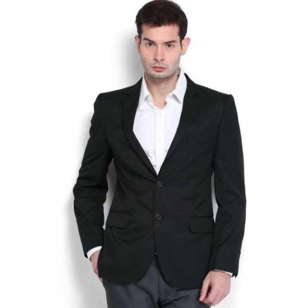 Premium Solid Single Breasted Formal, Casual Men's Blazer