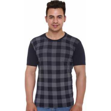 Shaun Printed Men's Round Neck Dark Blue T-Shirt