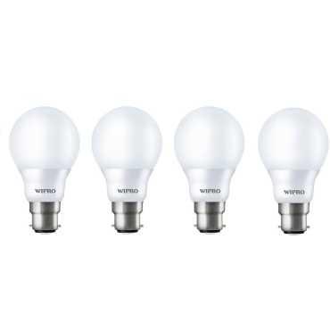 Wipro Garnet 9W Standard B22 LED Bulb (White, Pack of 04) - White
