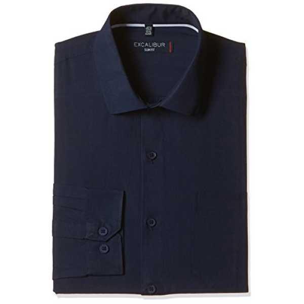 Excalibur Men's Formal Shirt (8907542393244_400016278323_39_Navy)