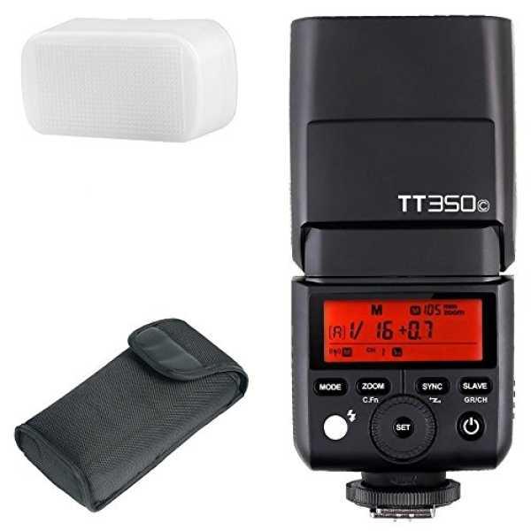 Godox TT350C TTL Wireless Speedlite Flash (For Canon) - Black