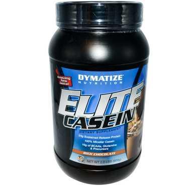 Dymatize Nutrition Elite Casein Powder (2 Lbs,Rich Chocolate) - Brown