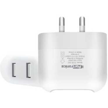 Portronics POR-542 2.4A Dual USB Charger