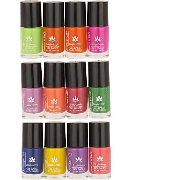 Aroma Care Mab Nail Polish 01-02-03 (Multicolor) (Set of 12)