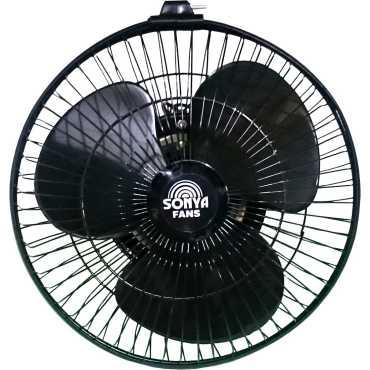 Sonya HS 3 Blade (225mm) Cabin/Wall Fan - Black